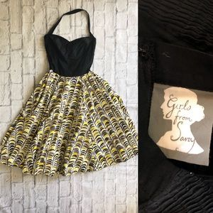 Anthropologie girls savoy memory of feather dress